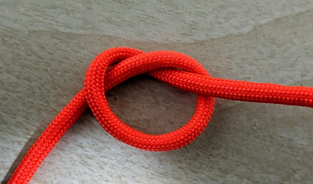 over hand knot