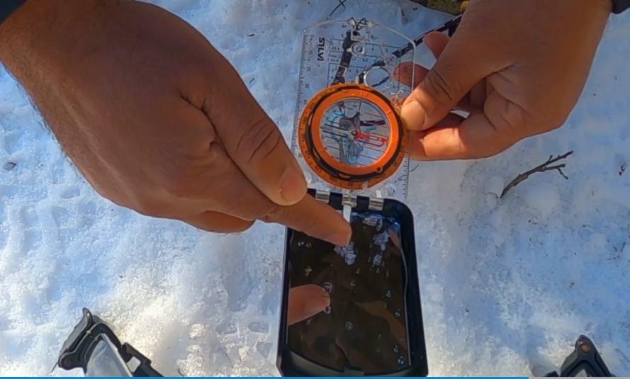 using compass on stake