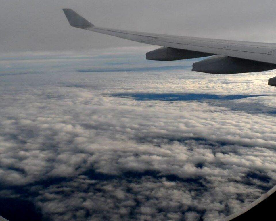 Flight Over Island