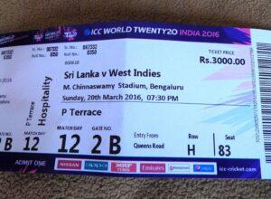 Match ticket SL-WI