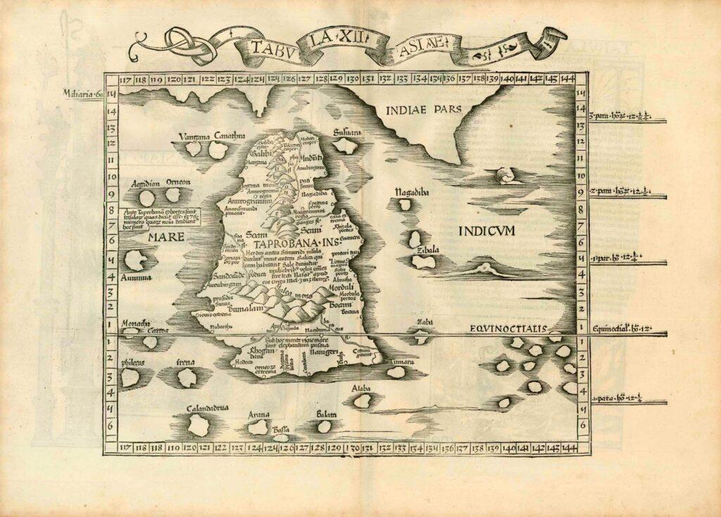 Map Old Sri Lanka