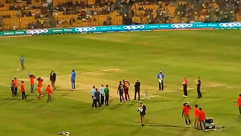 SL WI cricket Toss